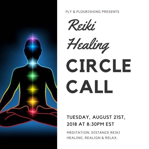 Reiki Healing Circle Call 8-21-2018